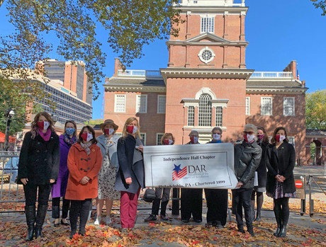 New members were inducted at a Facebook live event outside of Independence Hall.