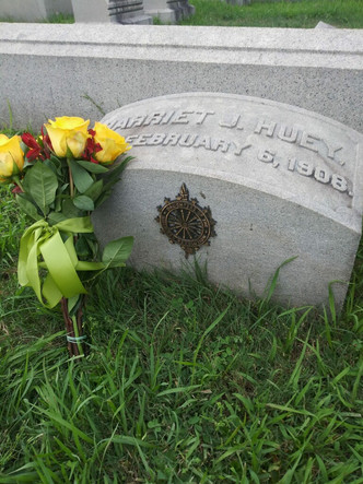 Brand new DAR Insignia on the grave of our first regent Miss Harriet Huey.