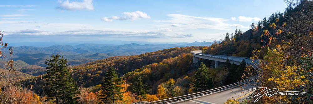 The Linville Viaduct along the Blue Ridge Parkway outside of Blowing Rock.