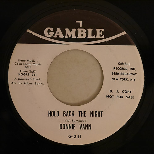 Donnie Vann / Hold Back The Night / A Hundred Pounds Of Clay