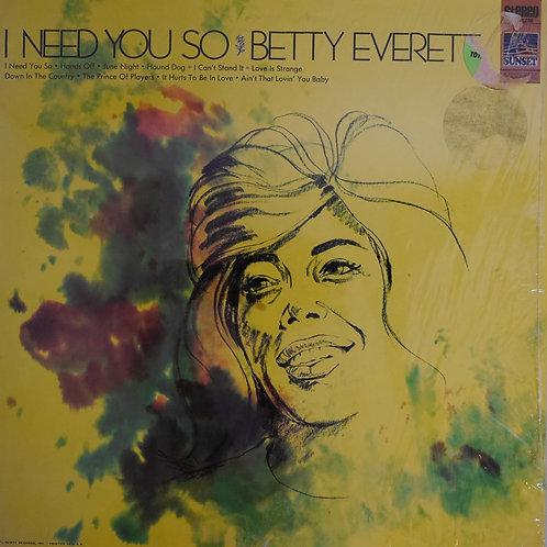 Betty Everett / I Need You So