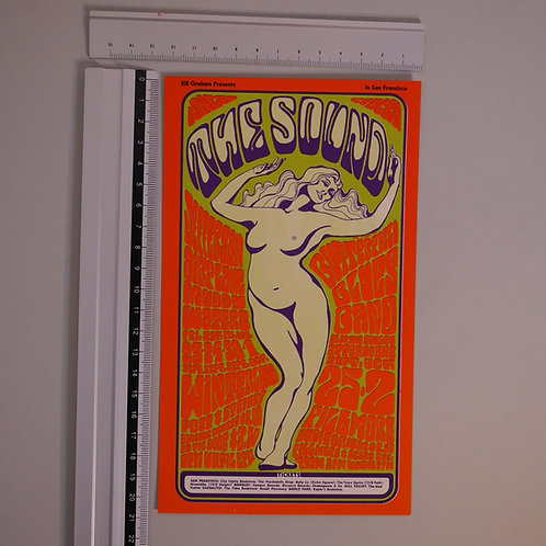ART OF ROCK POST CARD / 1966年ビル・グラハム主催イベントJEFFERSON AIRPLANE / MUDDY WATERSほか
