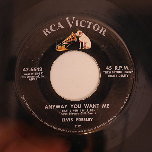 ELVIS PRESLEY / LOVE ME TENDER / ANYWAY YOU WANT ME