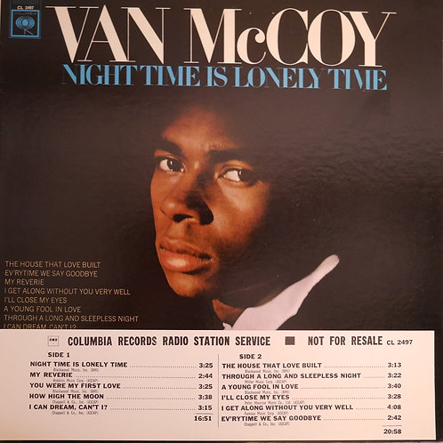 VAN McCOY /  NIGHT TIME IS LONELY TIME(白ラベプロモ)