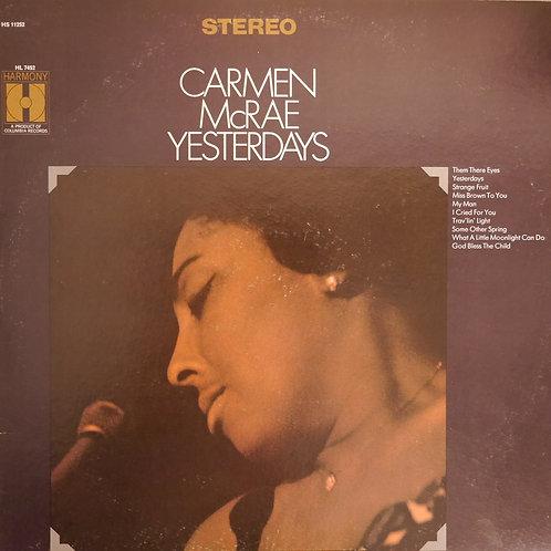 CARMEN McRAE / YESTERDAYS