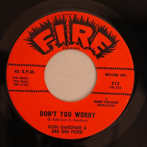Don Gardner And Dee Dee Ford ‎ / Don't You Worry