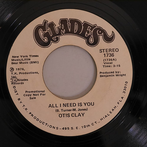 Otis Clay /ALL I NEED IS YOU (プロモ)