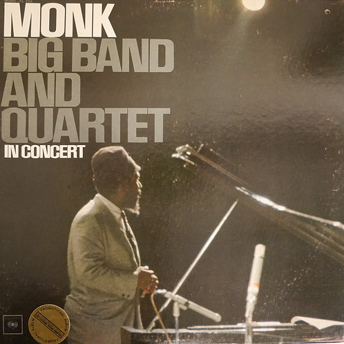 MONK / Big Band And Quartet In Concert (US MONO 2EYE PROMO)
