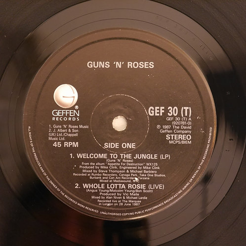 """Guns N' Roses / Welcome To The Jungle(12"""")"""