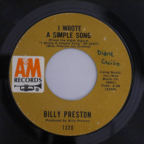 BILLHY PRESTON /OUTA SPACE/ I WROTE A SIMPLE SONG