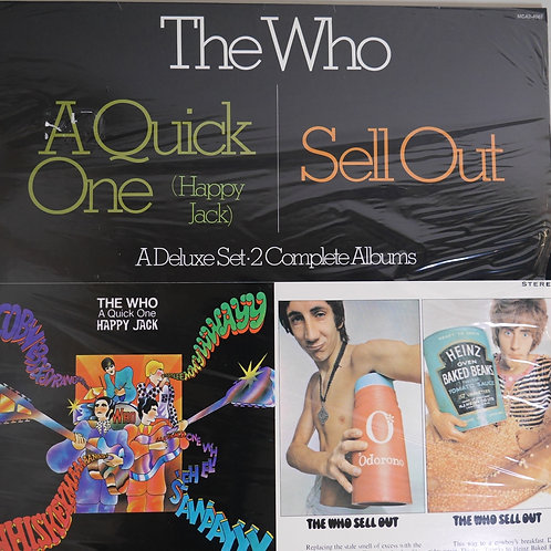 THE WHO /A QUICK ONE / SELL OUT  2枚組 未開封デッドストック