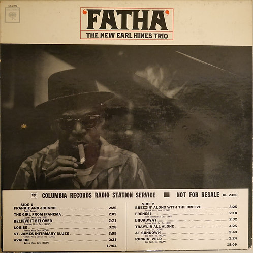 "THE EARL HINES TRIO / ""Fatha"" (2EYE MONO 白プロモ)"