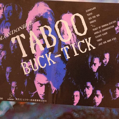 BUCK-TICKTABOO』/(タブー)BUCK-TICK   見本盤美品 ピクチャー盤 つき  N/MINT