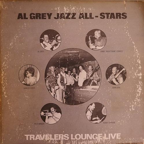 トロンボーン奏者アル・グレイによるマイアミのジャズ・クラブでのライヴ盤。シャーリー・スコットがピアノで参加,シャーリー作「Oasis」が聞けるアルバム。 レコード:EX-。 ジャケット:全体に擦れ、汚れあり、VG-- or JUNK。     SON