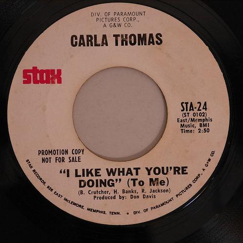 Carla Thomas / I Like What You're Doing (To Me) プロモ盤。
