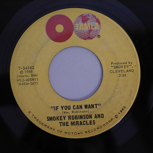 Smokey Robinson And Miracles / When The Words From~ c/w If You Can