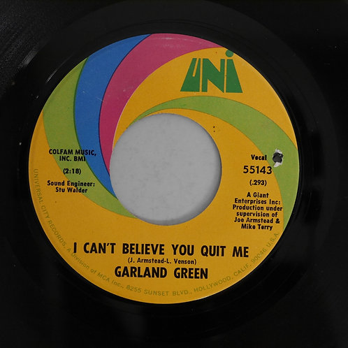Garland Green / I Can't Believe You Quit Me / Jealous Kind Of Fella