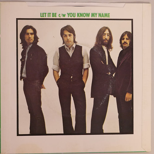 THE BEATLES / LET IT BE/ YOU KNOW MY NAME   UK 7'シングル  PushOut仕様