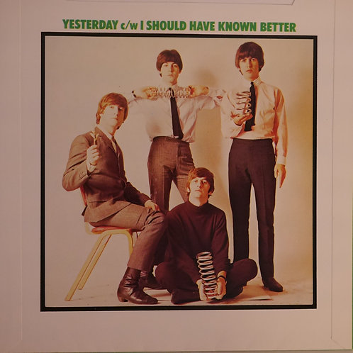 THE BEATLES / YESTERDAY/I SHOULD HAVE KNOWN BETTER 7' UK  PUSH OUT