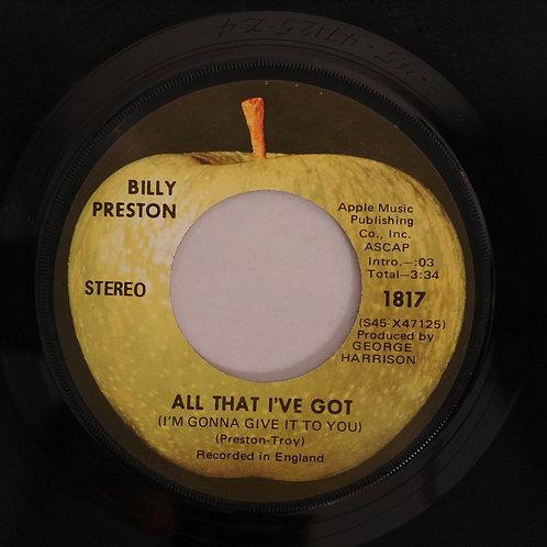 BILLY PRESTON / ALL THAT I'VE GOT/ AS I GOT OLD
