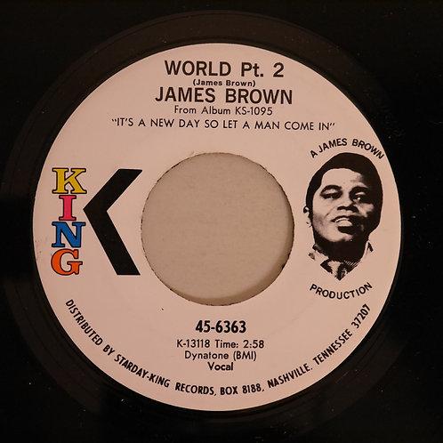 JAMES BROWN /I Cried / World Pt. 2(白ラベプロモ)