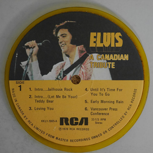 ELVIS PRESLEY / レコード再利用ラベルコースター