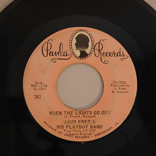 JOHN FRED & HIS PLAYBOY BAND /JUDY IN DISGUISE / WHEN THE LIGHTS GO OUT