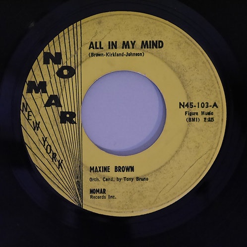 MAXINE BROWN /ALL IN MY MIND / FUNNY