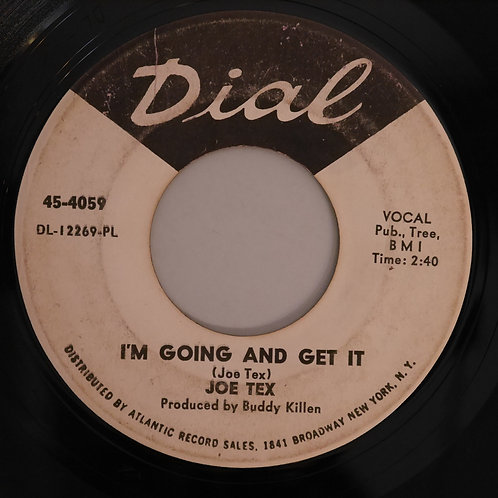 JOE TEX / Woman Like That, Yeah / I'm Going And Get It(プロモ白ラベ)