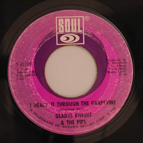 GLADYS KNIGHT & THE PIPS /I HEARD IT THROUGH THE GRAPEVINE/IT'S TIME TO GO NOW