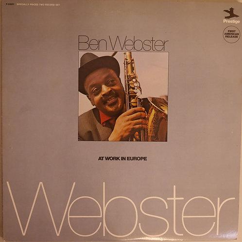 Ben Webster / At Work In Europe(プロモ白ラベル)