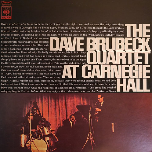 THE DAVE BURBECK QUARTET / At Carnegie Hall