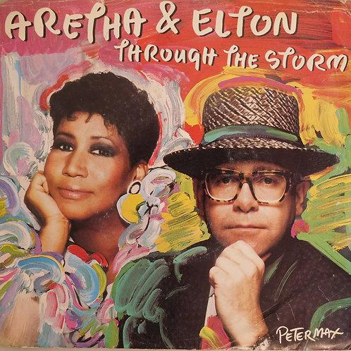 ARETHA FRANKLIN & ELTON JOHN / THROUGH THE STORM (7inch)