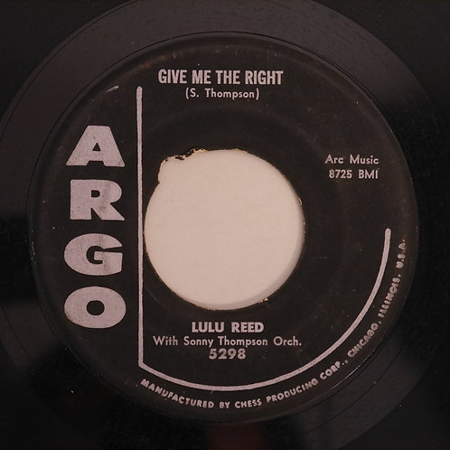 LULU REED / Anything To Say You're Mine / Give Me The Right