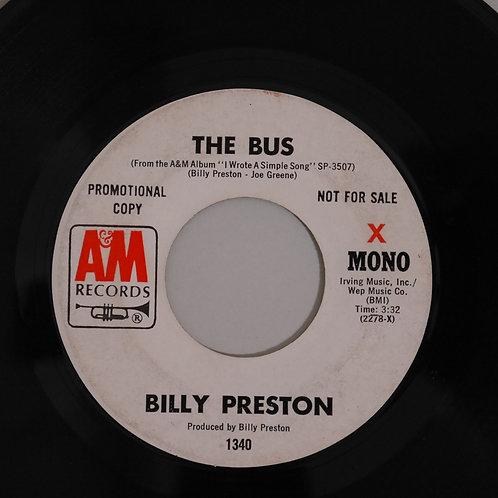 BILLY PRESTON / THE BUS  USオリジナル・プロモ 白ラベ MONO/STEREO
