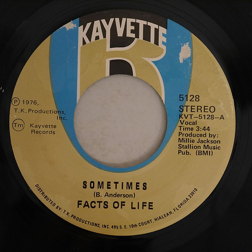 FACTS OF LIFE  / SOMETIMES (7')