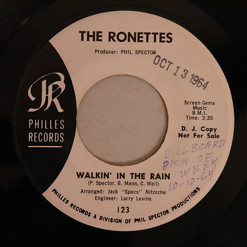 THE RONETTES / Walking In The Rain(プロモ白ラベル)