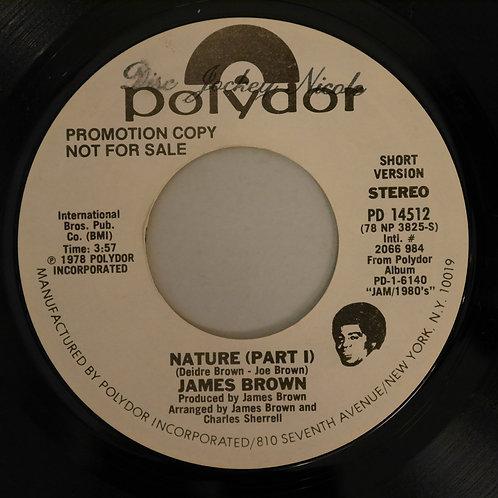 JAMES BROWN / NATURE(PART1) STEREO/MONO     US PROMO COPY   STEREO/MONO