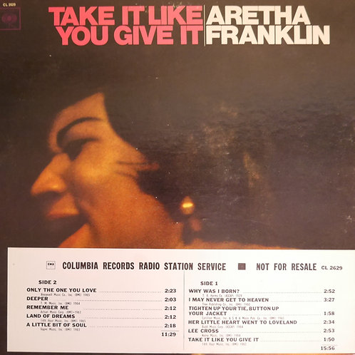 ARETHA FRANKLIN /Take It Like You Give It (US:Orig.MONO プロモ盤)