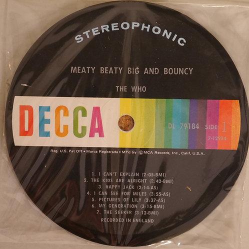 THE WHO / レコード再利用ラベルコースター