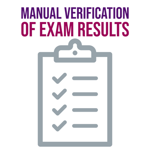 Manual Verification of Exam Results
