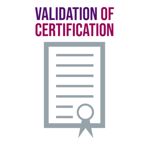 Request for Validation of Certification