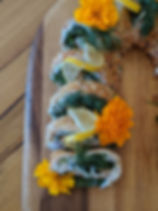Carrot Roll With Salat, Fresh Herbs & So