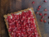 Tart with White Chocolate Truffle & pome