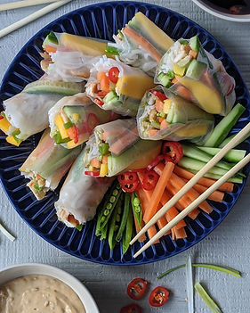 Vietnamese Spring-rolls Served With Pean