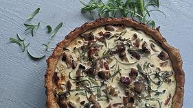 Mushroom Tart With Fresh Rosemary & Baco