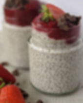 Chia Vanilla Pudding With Strawberry Pur