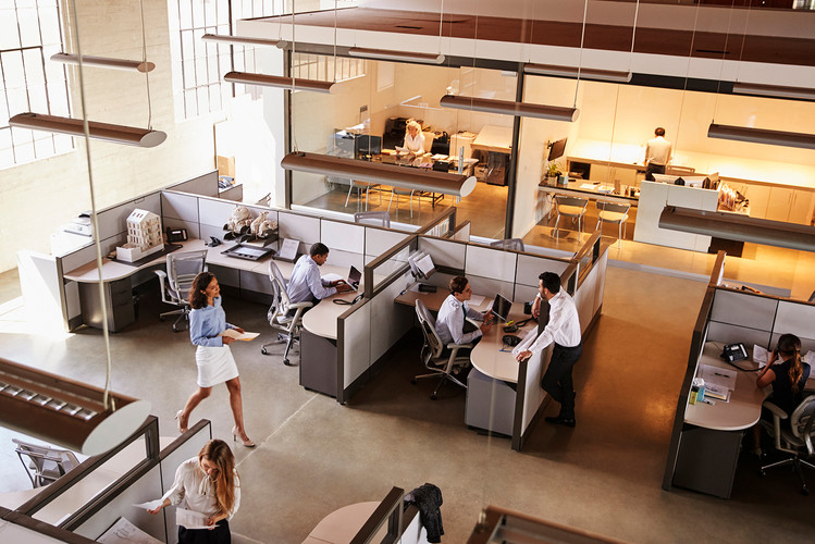 elevated-view-of-a-busy-open-plan-office