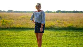 Girl in Field 1