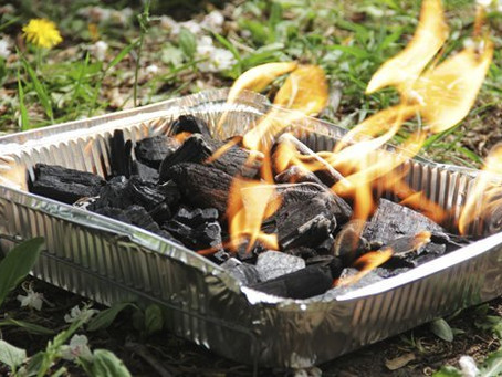 Disposable barbecue danger alert in parks and open spaces